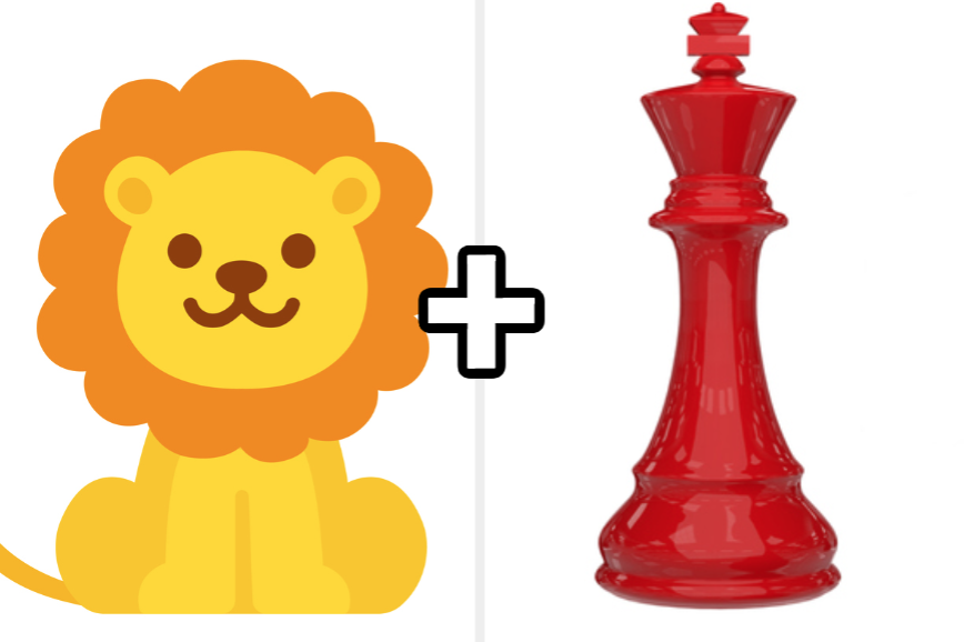 Lion plus king chess piece