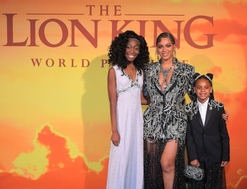 A photo of Shahadi with Beyoncé at the Lion King premiere