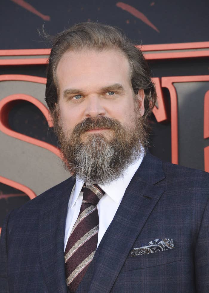 David Harbour at the Stranger Things 3 premiere