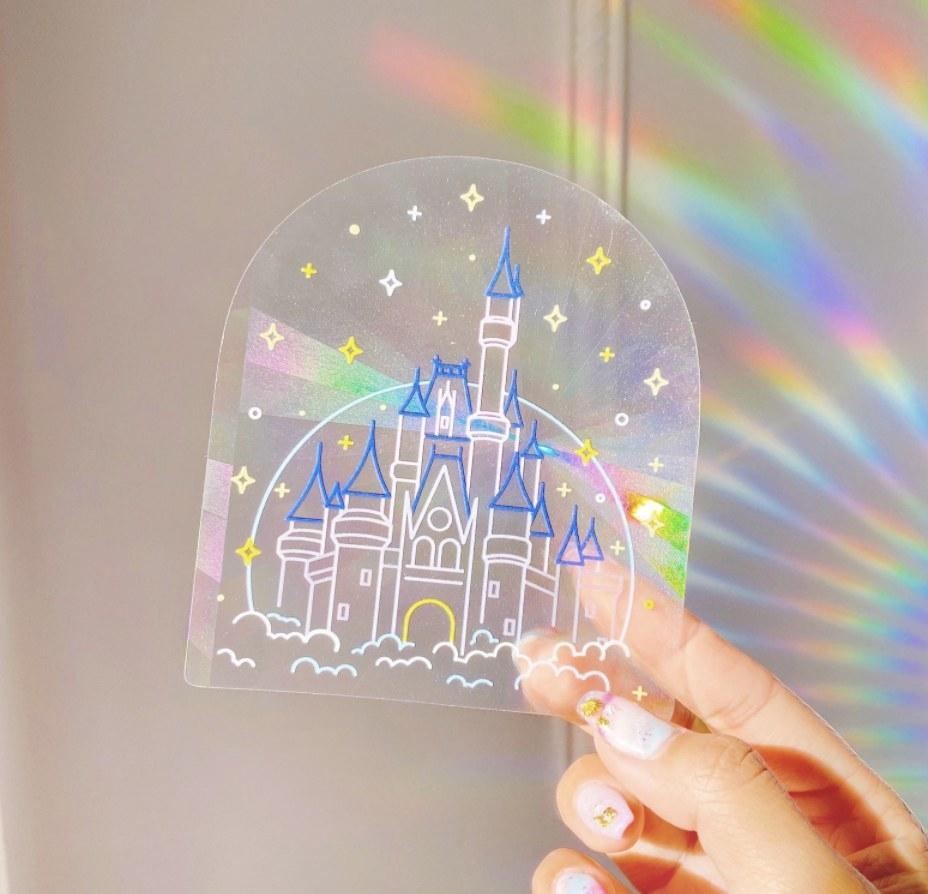 A suncatcher of the Disney castle