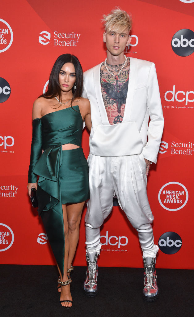Megan Fox (L) and Machine Gun Kelly at The 2020 American Music Awards, hosted by Taraji P. Henson