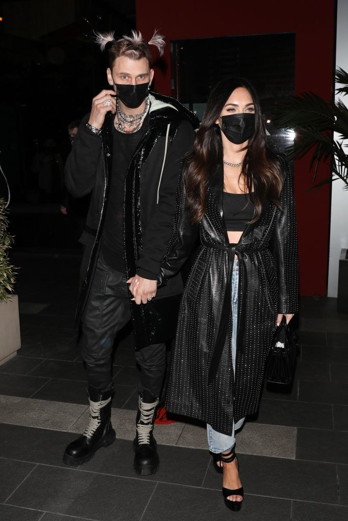 Machine Gun Kelly and Megan Fox are seen out to dinner at BOA