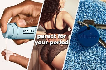 face serum leak-proof panties for your period and a bluetooth tracker