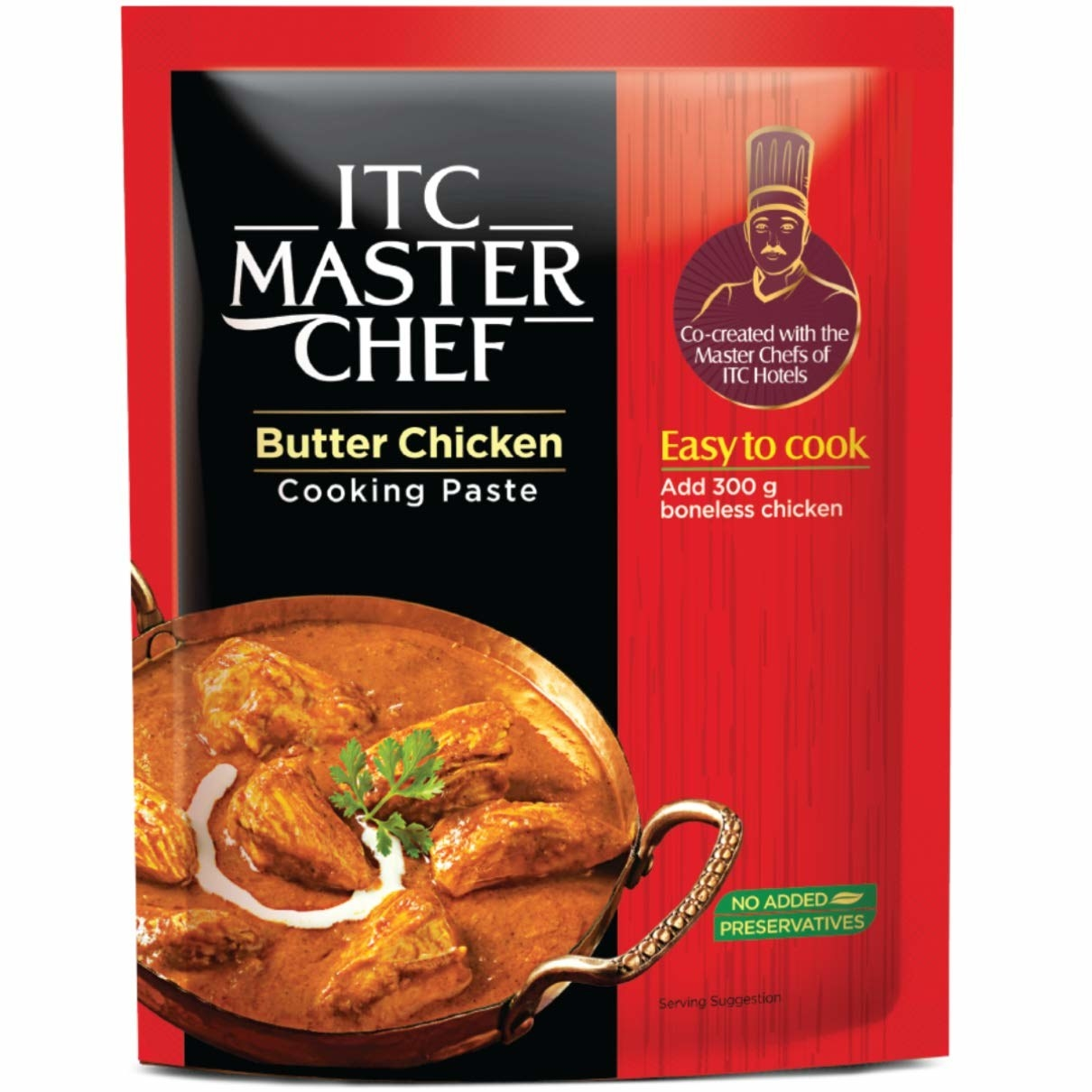 Packaging of the butter chicken paste