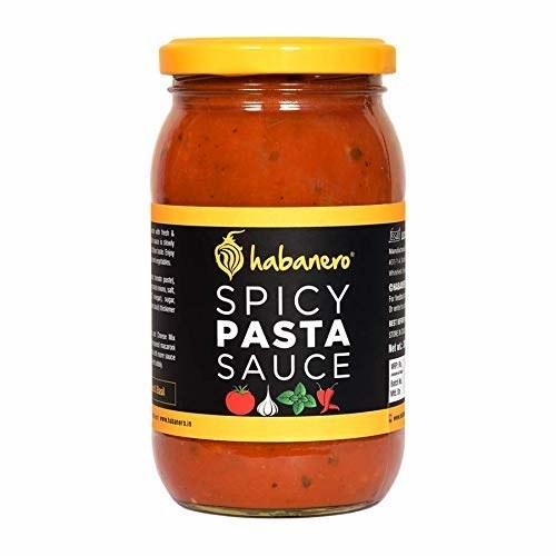 A jar of pasta sauce