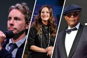 Dax Shepherd, Drew Barrymore, and Samuel L. Jackson