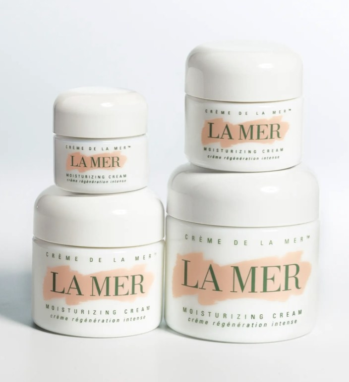 The Creme de La Mer in varying sizes