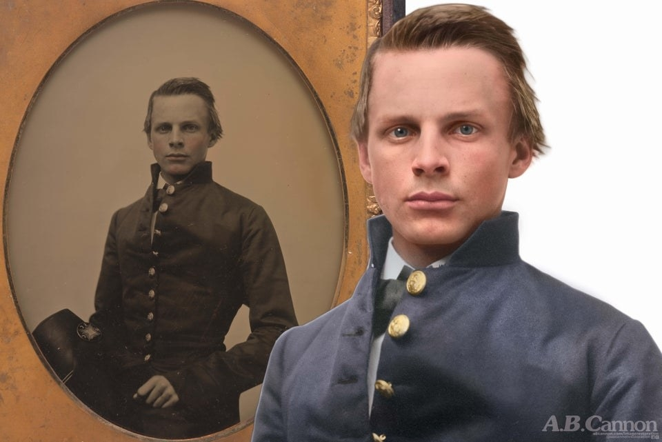 HD restoration of a Civil War soldier