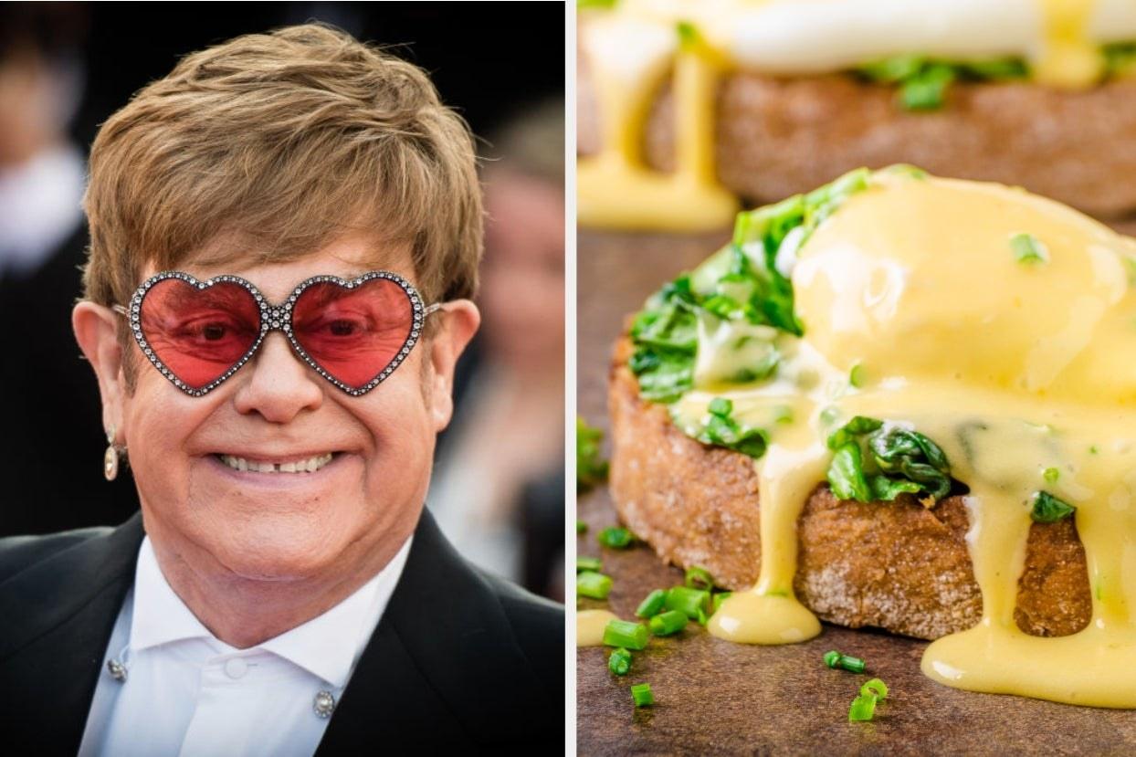 Elton John and hollandaise sauce on toast