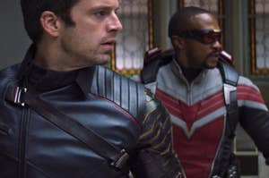 Sebastian Stan and Anthony Mackie in