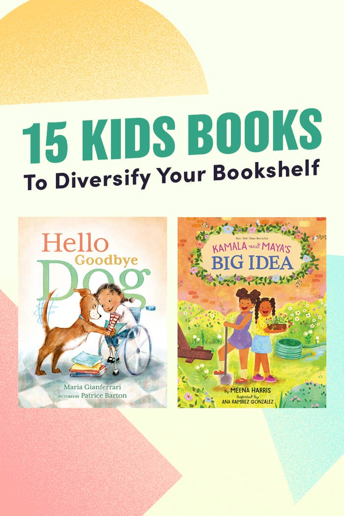 An illustrated header: 15 Kids Books To Diversify Your Bookshelf