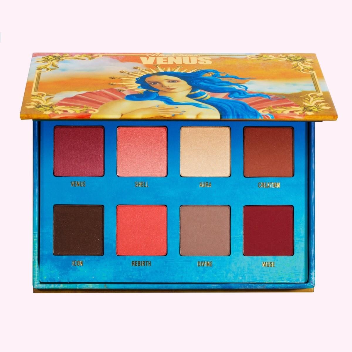 a venus themed eyeshadow palette