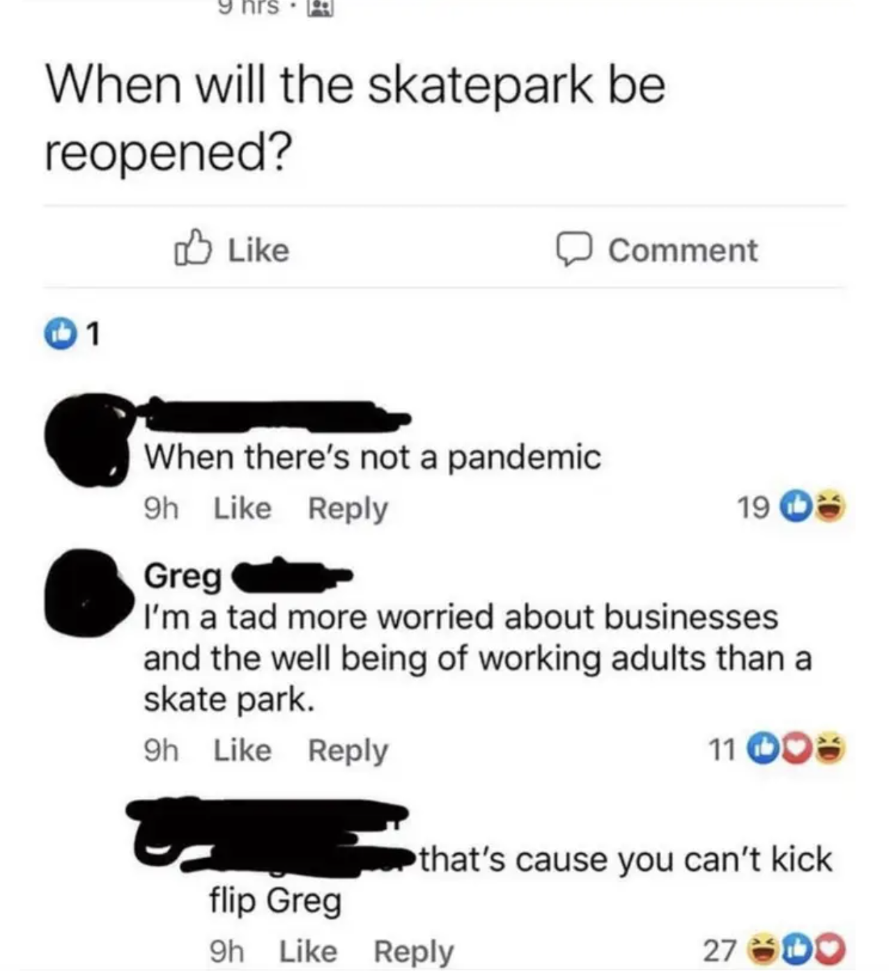 person named greg getting owned