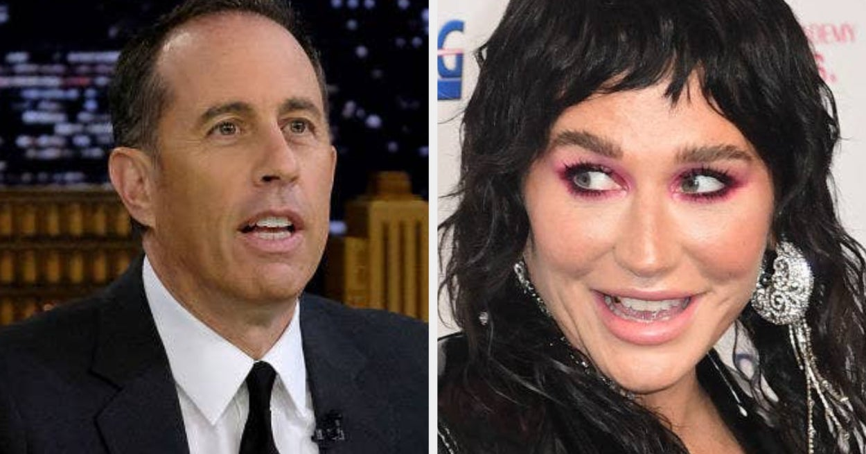 Kesha Reacted To The Incredibly Awkward Video Where Jerry Seinfeld Rejected Her Hug, And I Wish I Could Forget It All Over Again