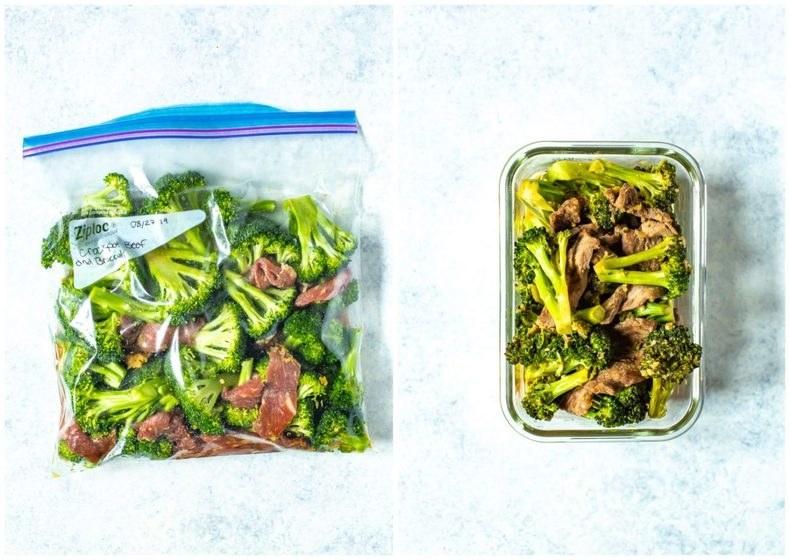 Freezer prep beef and broccoli