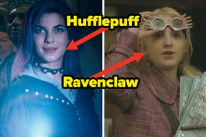 """Natalia Tena as Nymphadora Tonks and Evanna Lynch as Luna Lovegood in the movie """"Harry Potter and the Order of the Phoenix."""""""