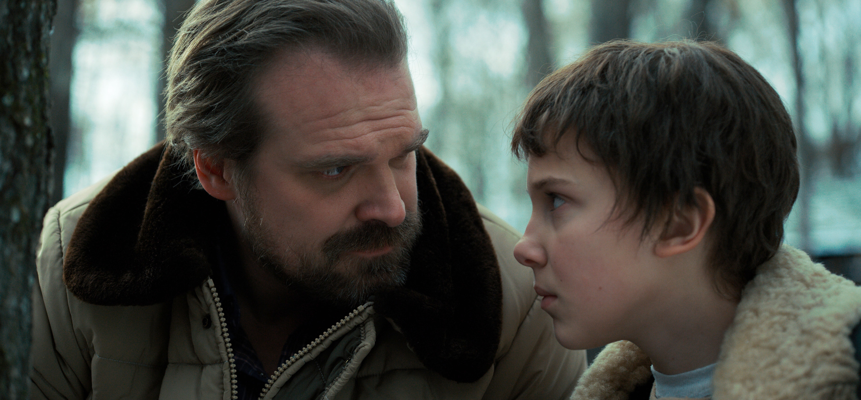 Harbour and Brown in Stranger Things
