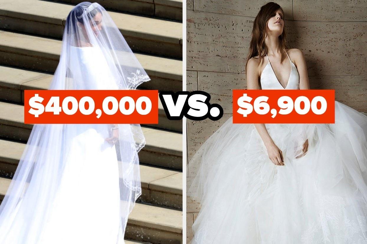 a $400,000 dress vs a $6,900 dress