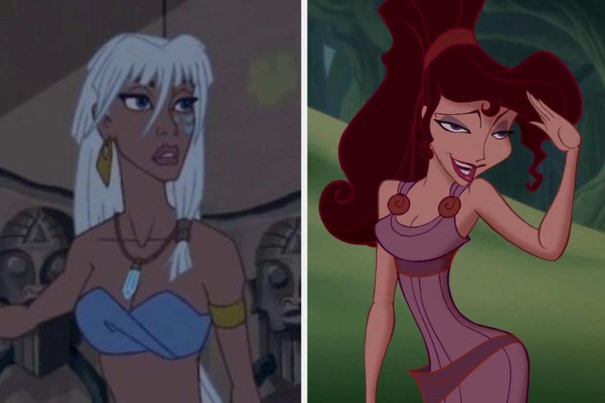 "Kida from ""Atlantis"" and Meg from ""Hercules"""