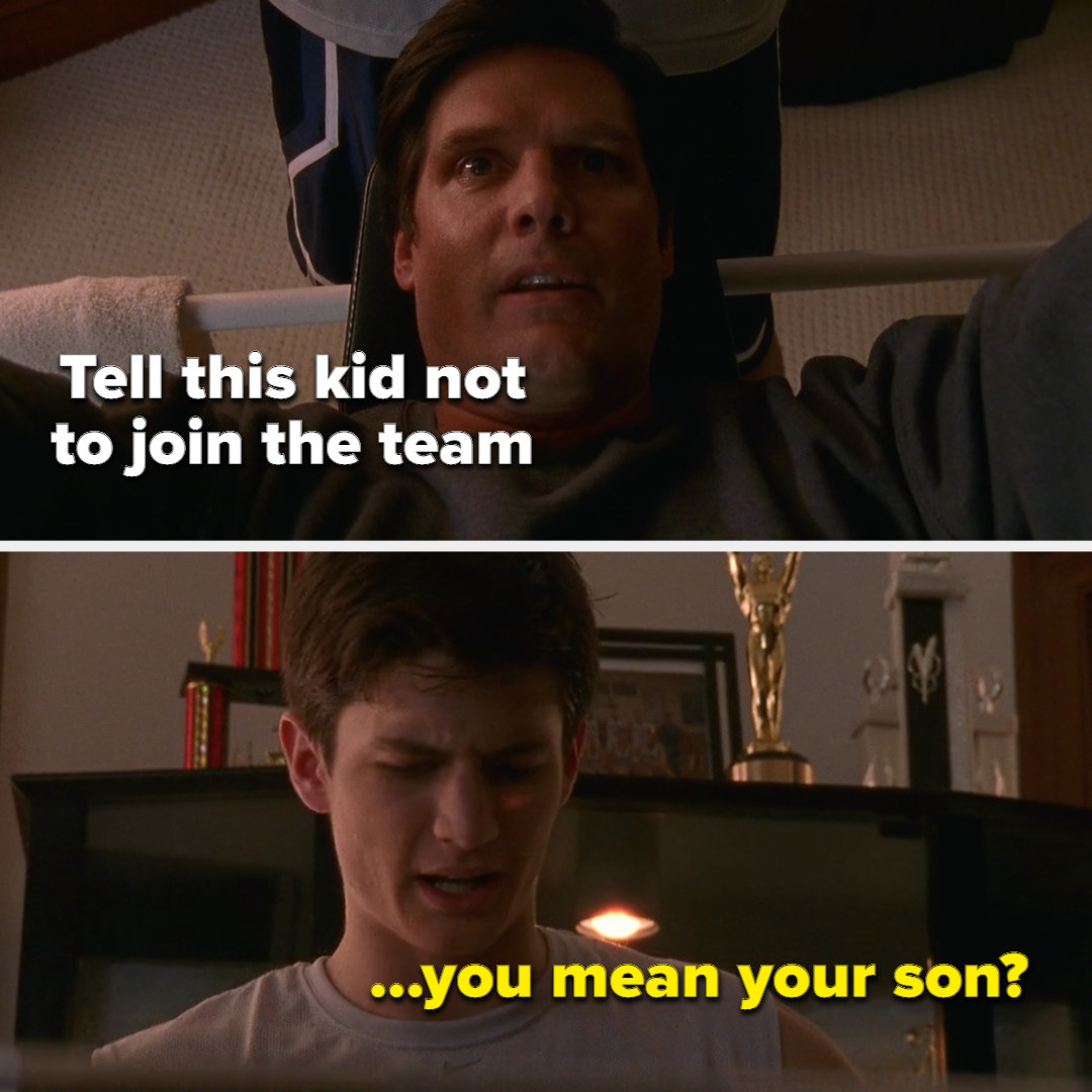 """meme of Dan saying, """"tell this kid not to join the team"""" and Nathan replying, """"you mean your son?"""""""