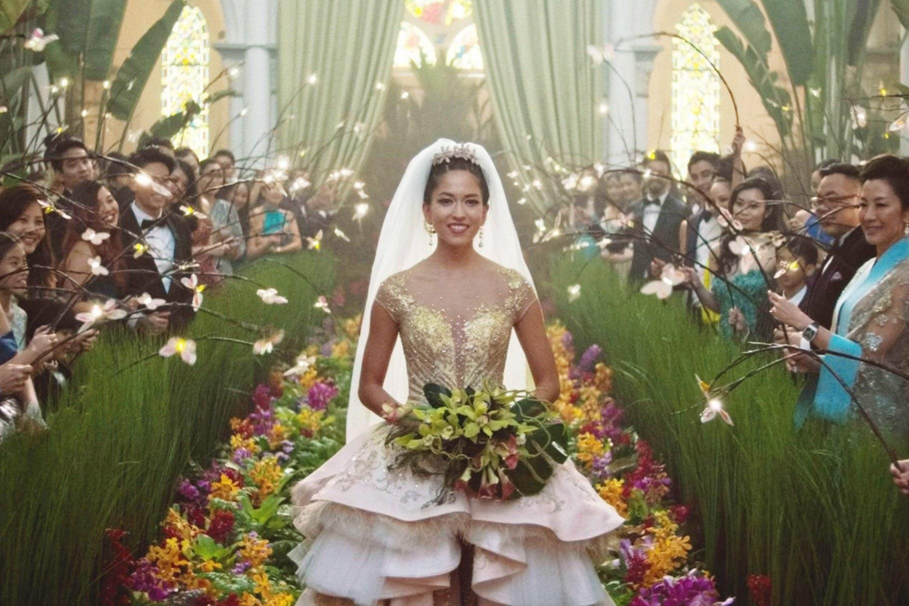 "the extravagant wedding in ""Crazy Rich Asians"""