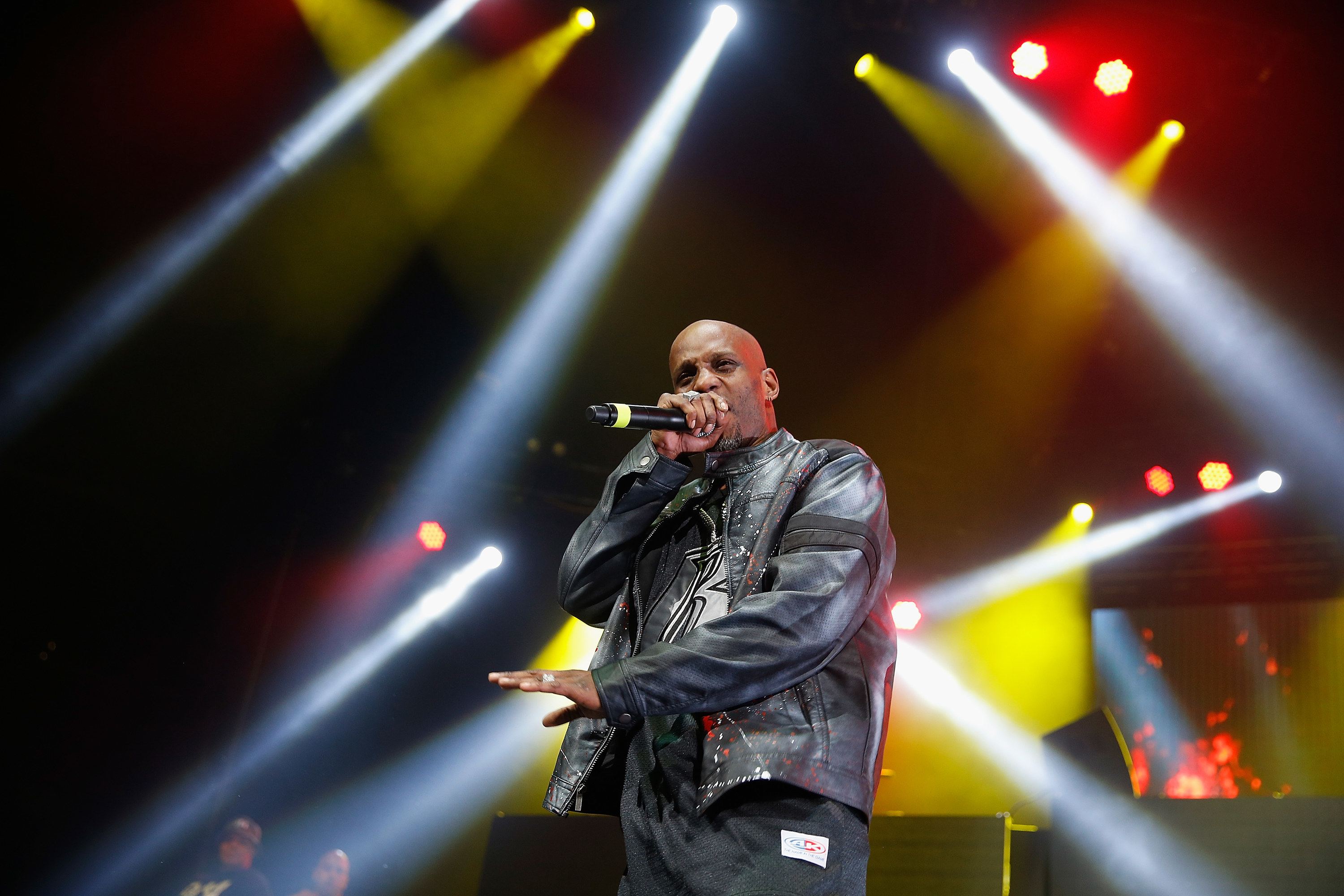 Rapper DMX performs on stage