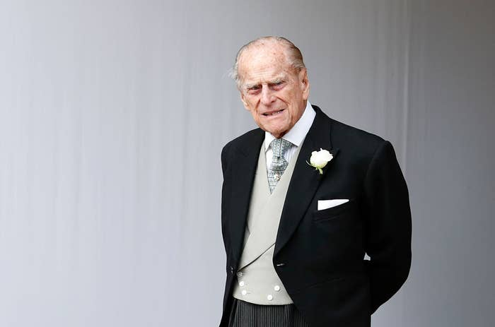 Prince Philip attending Princess Princess Eugenie's wedding in 2018