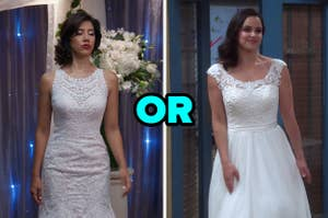 """来自""""布鲁克林九九""""的婚纱礼服或来自""""布鲁克林九九""""的婚纱礼服的罗莎"""