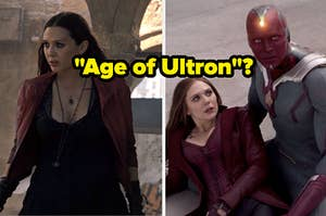"Two screencaps with text, ""Age of Ultron?"""