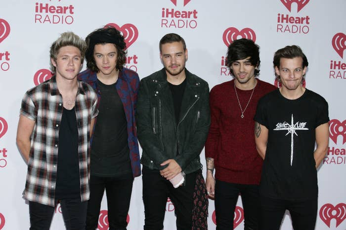 One Direction at the 2014 iHeartRadio Music Festival red carpet