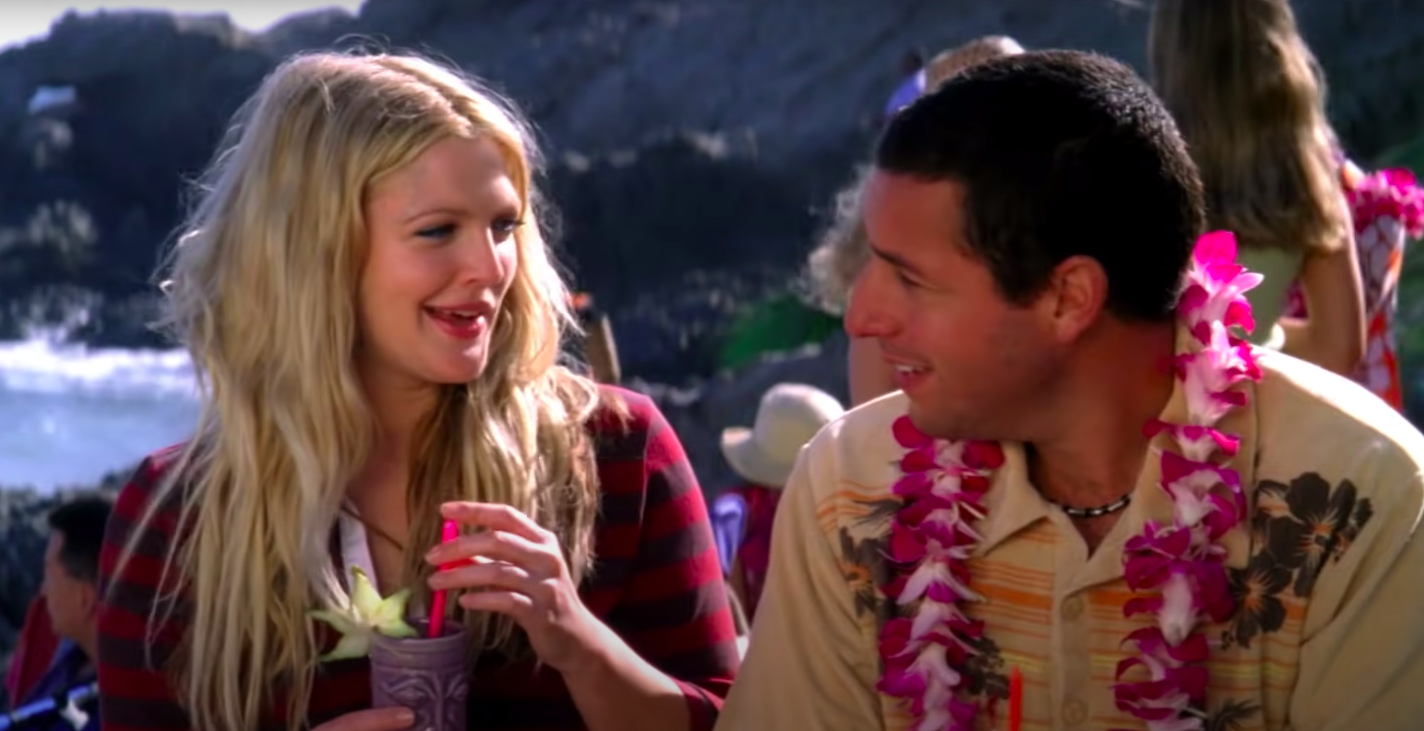 """Lucy and Henry talking in """"50 First Dates"""""""