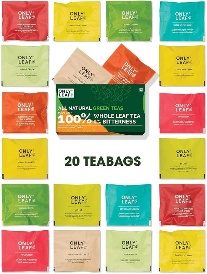 A pack of assorted tea flavours
