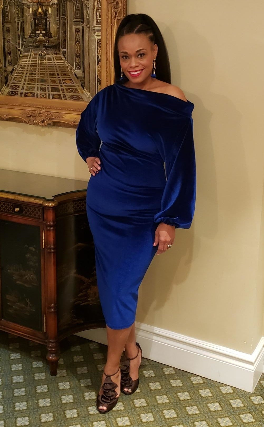 The dress in blue