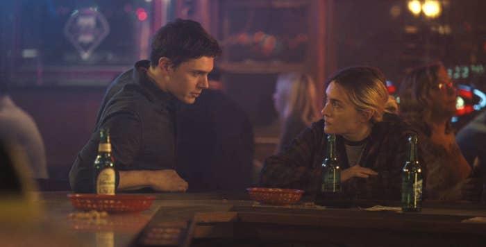 Colin and Mare at a bar