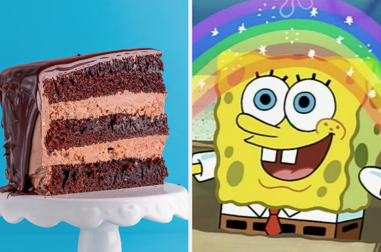Chocolate cake and SpongeBob