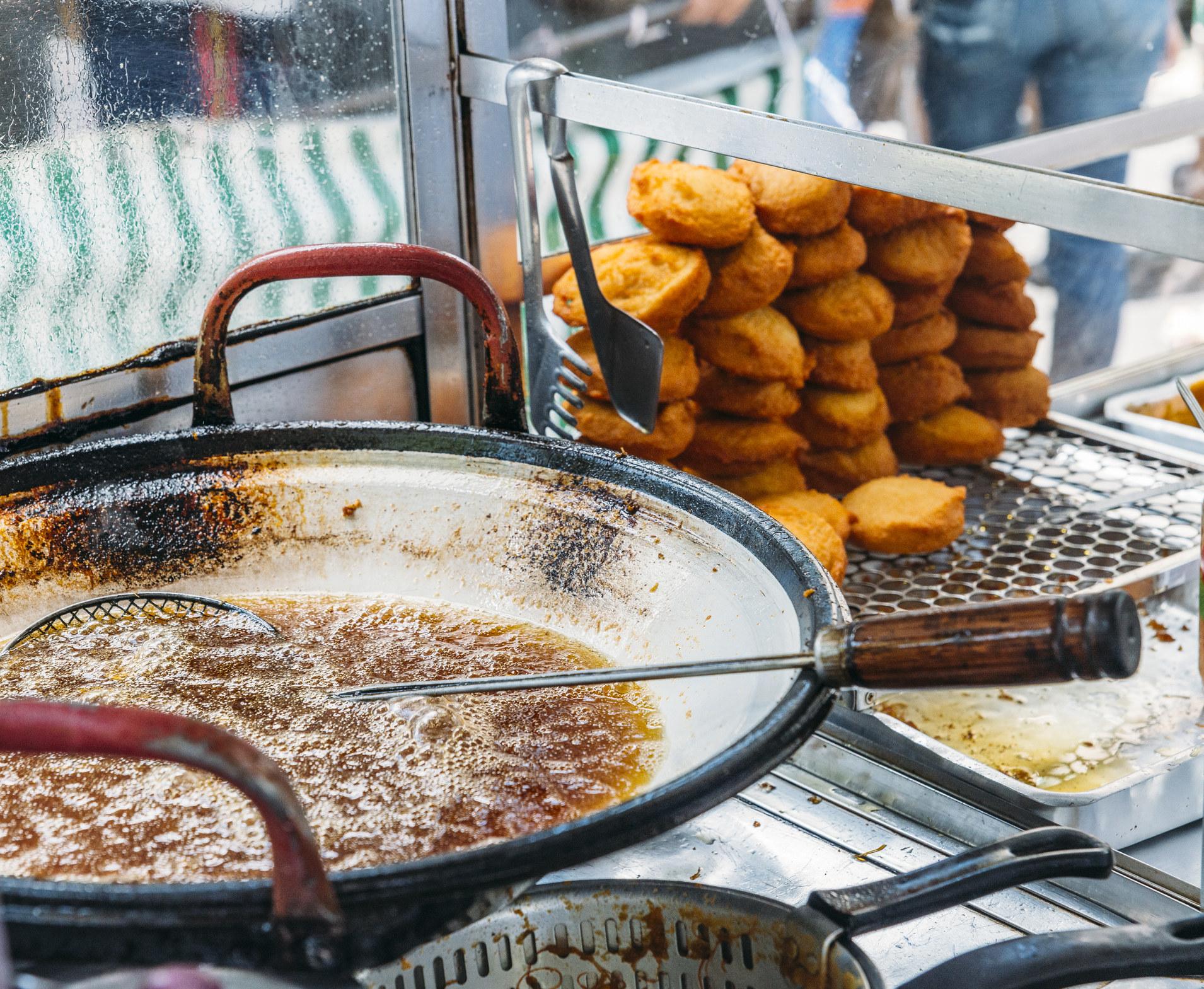 Brazilian fried street food.