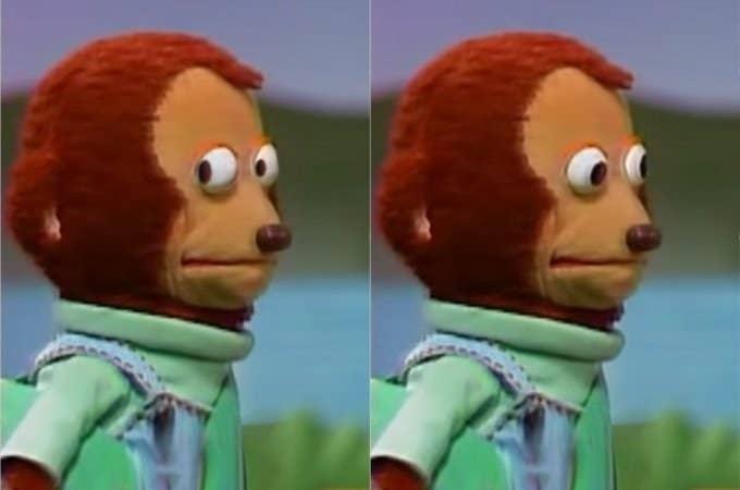 side eye monkey meme