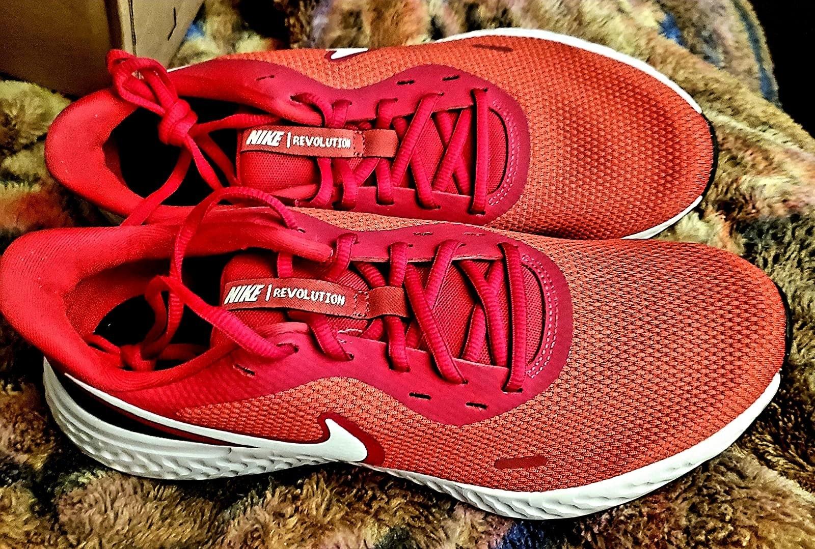 red nike sneakers