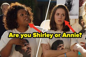 """Alison Brie as Annie Edison and Yvette Nicole Brown as Shirley Bennett in the show """"Community."""""""