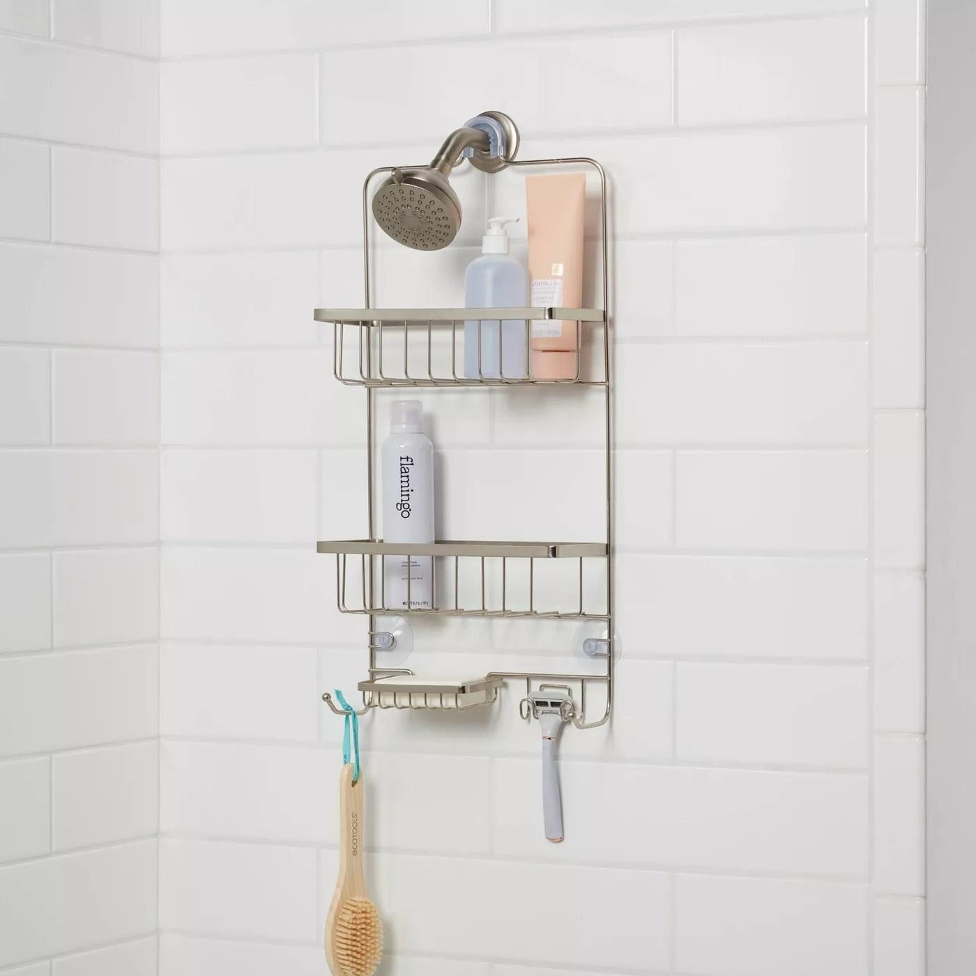 A shower caddy