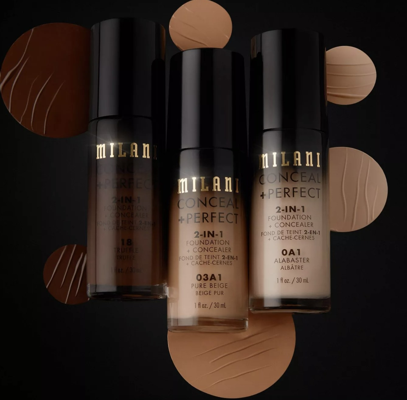 A few bottles of 2-in-1 foundation and concealer