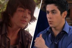 Joe Jonas is on the left facing Justin from