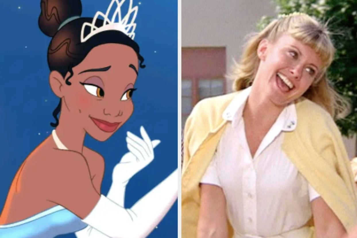 """Tiana from """"The Princess and the Frog"""" and Sandy from """"Grease"""""""