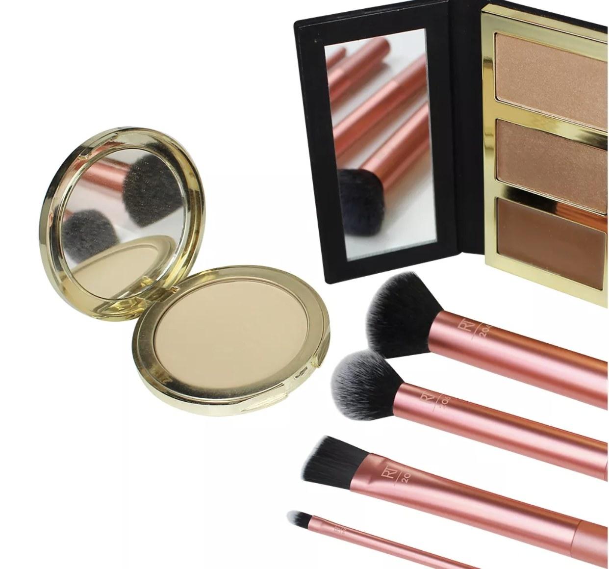 A set of makeup brushes