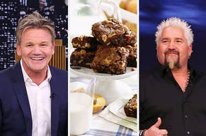 gordon ramsey and guy fieri and brownies