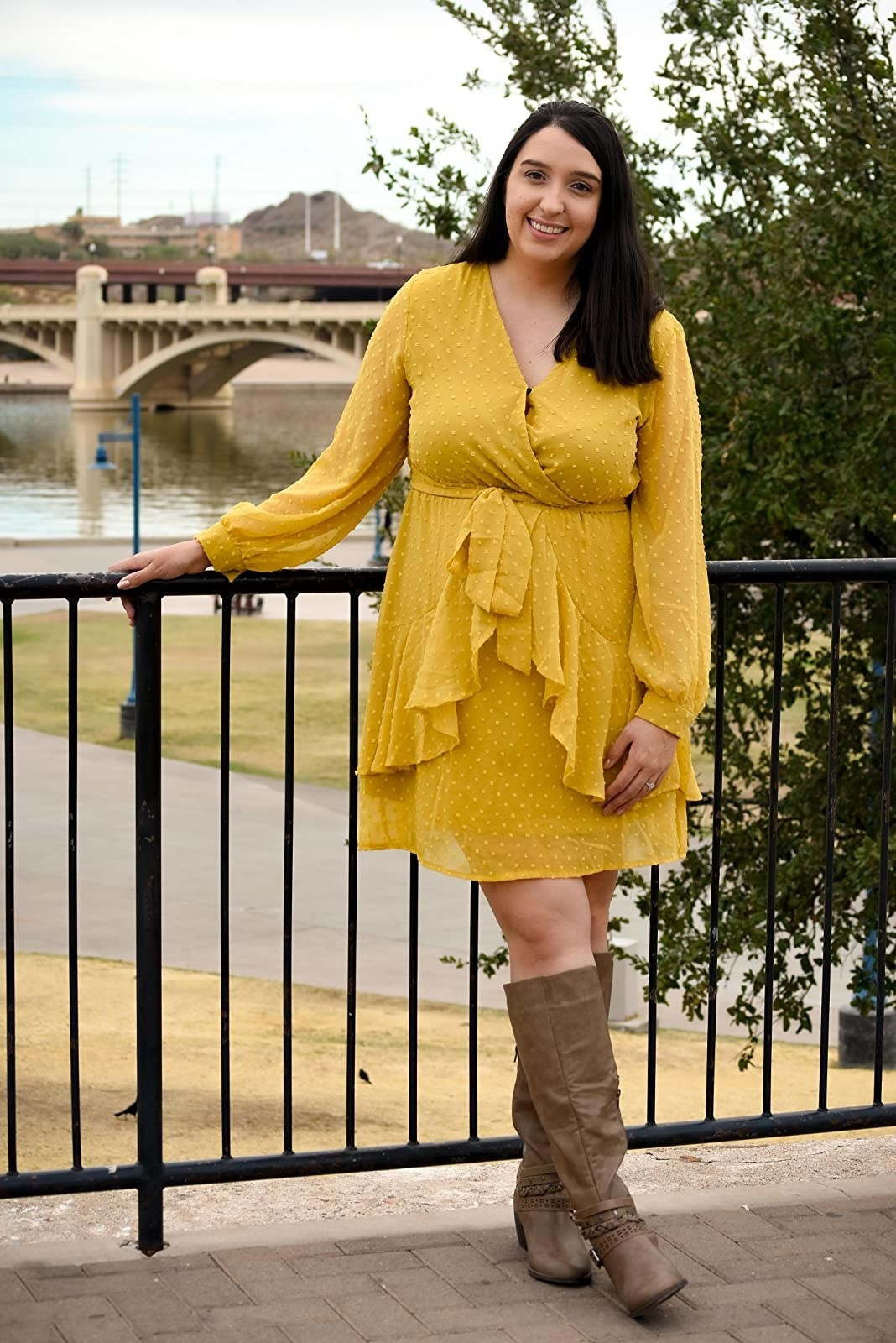 The dress in yellow