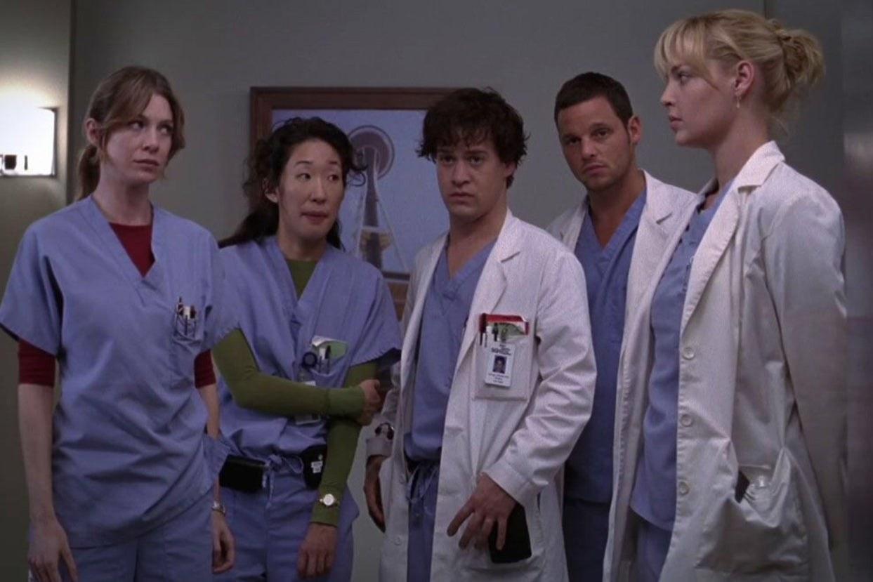 Grey's Anatomy doctors in their scrubs