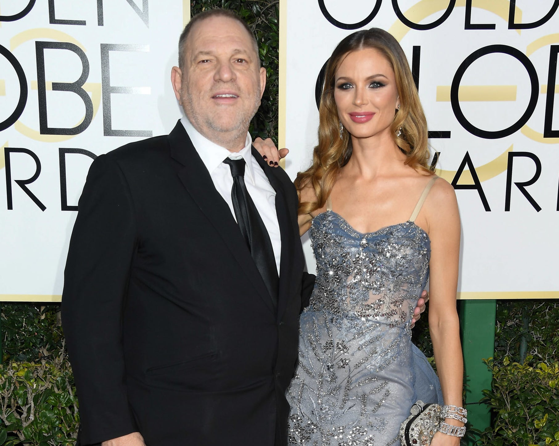 Harvey attends the Golden Globes in the past