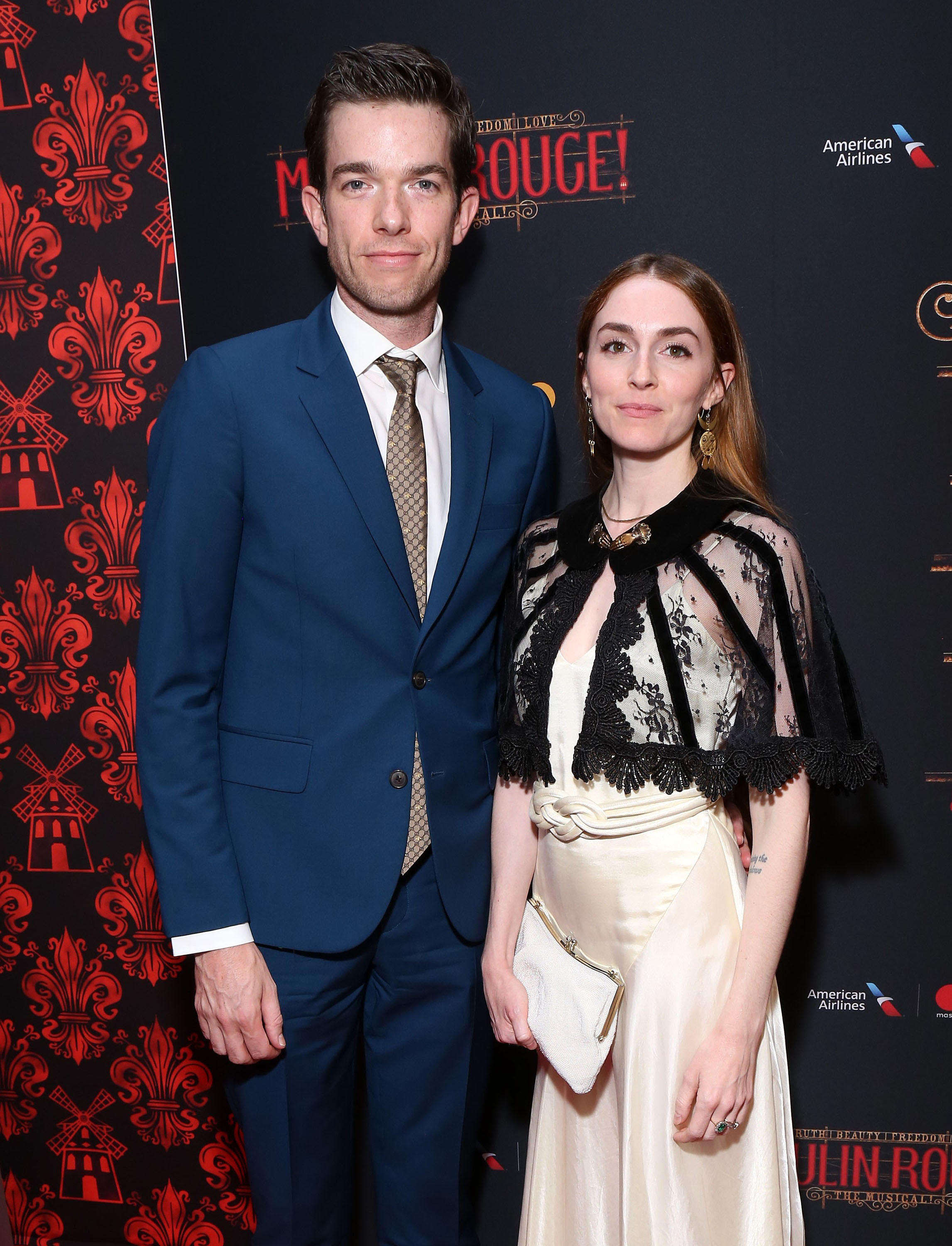 Mulaney and Tendler at the Moulin Rouge The Musical opening night party in July 2019