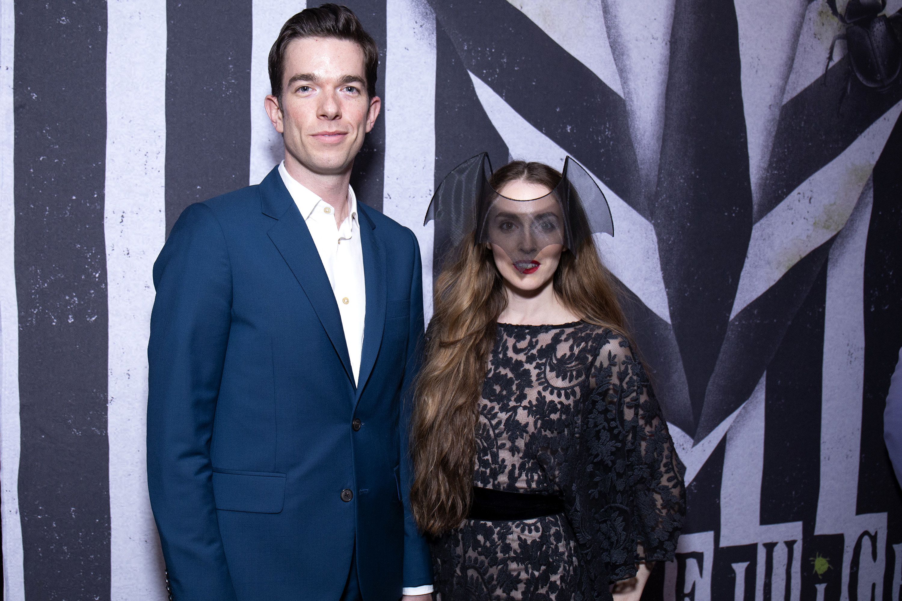 Mulaney and Tendler at the opening night of Beetlejuice in April 2019